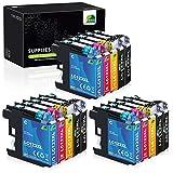 JARBO LC123XL Alta capacidad Cartuchos de tinta Reemplazo para Brother LC123...