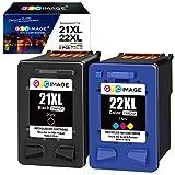 GPC Image 21XL 22XL Remanufacturado Cartuchos de Tinta para HP 21 XL 22 XL para...